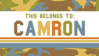 Camo Boy Waterproof Sticker