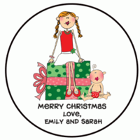 Holiday Custom Labels Round H-CIRC