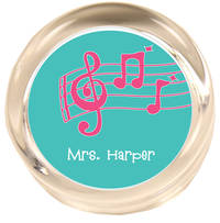 Music Pink Paperweight PWR410