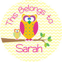 Cute Owls Camp Stickers