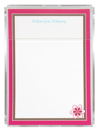 Fuchsia Flower Memo Sheets