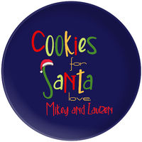 Cookies For Santa Plate Blue