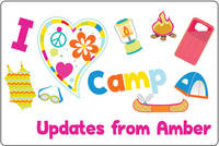 I Heart Camp Postcard