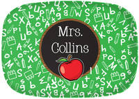 Apple Chalkboard Too Melamine Platter