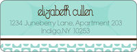 Mint Chocolate Circles Return Address Label