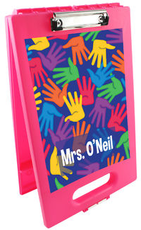 Bright Handprints Clipboard Storage Case