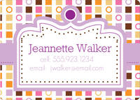 Color Blocks Calling Card