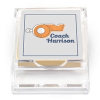 Coach Whistle Sticky Note Holder
