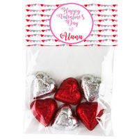 Heart Banner Valentine Candy Bag Toppers