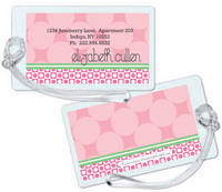 Blush Circles Luggage Tag
