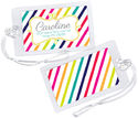 Candy Stripes Luggage Tag