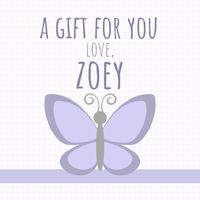 Lilac Butterfly Gift Stickers