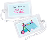 Camper Girl Luggage Tag