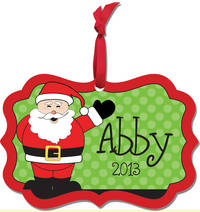 Cheerful Santa Aluminum Ornament
