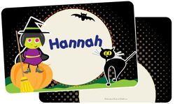 Witch On A Pumpkin Placemat