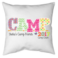 Camp Friends Girl Autograph Pillow