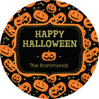 Carved Pumpkin Gift Stickers
