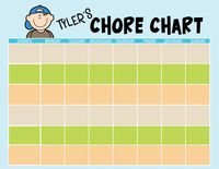 Faces Chore Chart Boy