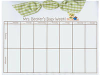 Teacher Bookworm Bow Calendar