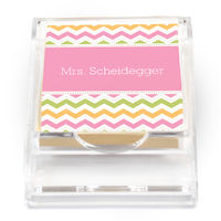 Colorful Chevron Sticky Note Holder