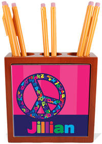 Alphabet Peace Pencil and Pen Holder