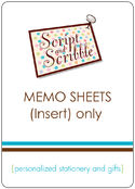 Memo Sheets Only