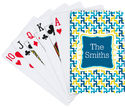 Aqua Gold Playing Cards
