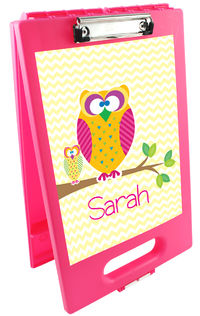 Cute Owls Clipboard Storage Case