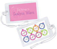 Colorful Compass Luggage Tag