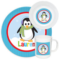 Penguin Girl Melamine Set
