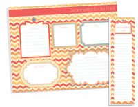 Citrus Zig Zags To Do Pad Set