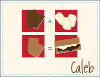 Brown S'mores Foldover Card