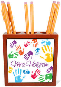 Colorful Hands Pencil and Pen Holder