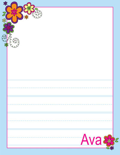 Mod flowers writing pad custom kids note pad printed drawing pad mod flowers kindergarten drawing pad mightylinksfo