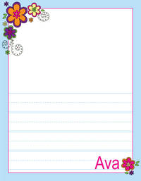 Mod Flowers Kindergarten Drawing Pad