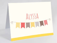 Bunting Flags Foldover Camp Cards