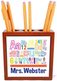 Mixed Up Alphabet Pencil and Pen Holder