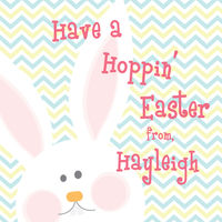 Hopping Bunny Easter Stickers