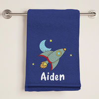 A Blast Blue Bath Towel