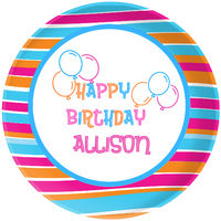 Bright Birthday Plate