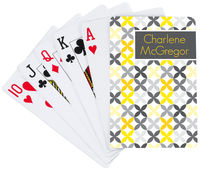 Grey Florettes Playing Cards
