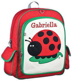 Ladybug Large Embroidered Backpack