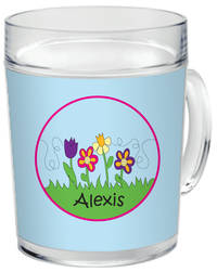 May Flowers Clear Acrylic Mug