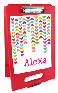 Lined Hearts Clipboard Storage Case