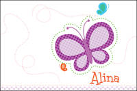 Dotted Butterfly Postcard
