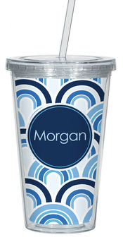 Azul Waves Clear Acrylic Tumbler