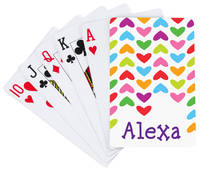 Lined Hearts Playing Cards