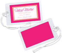 Peachy Pink Luggage Tag