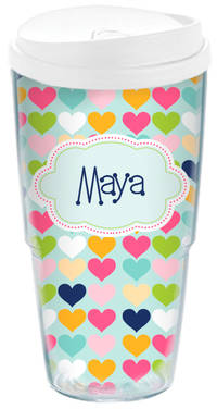 Plenty Hearts Acrylic Travel Cup