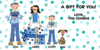 Blue Dots Holiday Custom Gift Labels H-CBAL